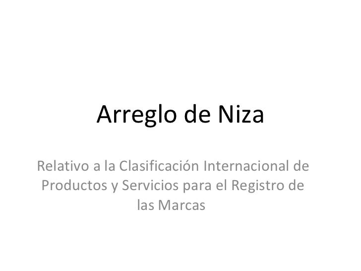 Clasificación Internacional de Marcas