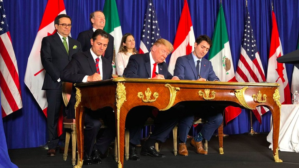 MÉXICO, CANADÁ Y ESTADOS UNIDOS FIRMAN EL T-MEC