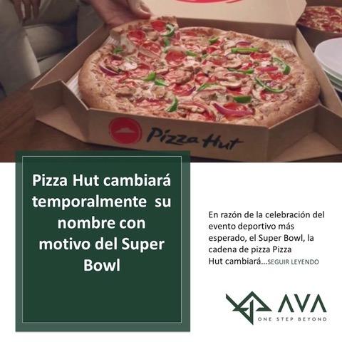 La cadena de pizza Pizza Hut cambiará temporalmente su nombre