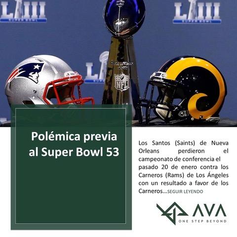 Polémica previa al Super Bowl 53.