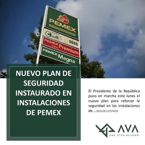 Nuevo plan de seguridad instaurado en instalaciones de PEMEX