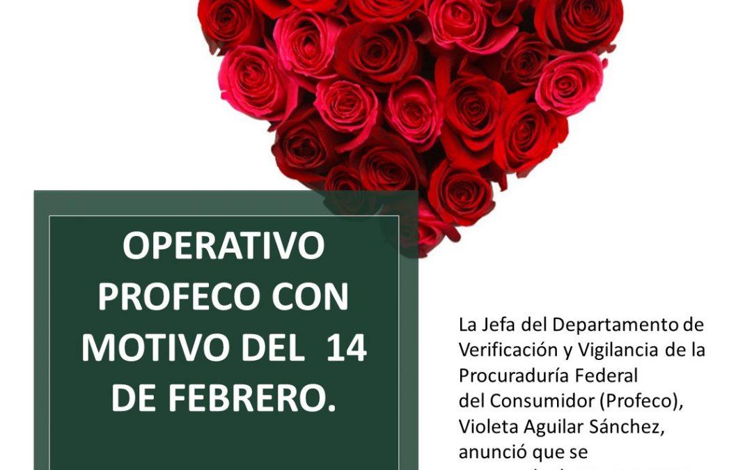 Operativo PROFECO con motivo del 14 de febrero.
