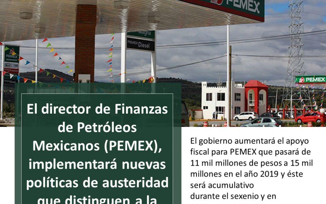 PEMEX implementará nuevas políticas de austeridad