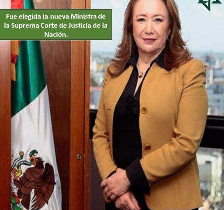 Fue elegida la nueva Ministra de la Suprema Corte de Justicia de la Nación.