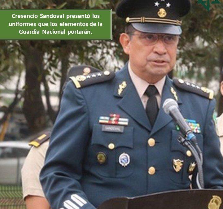 Uniformes que los elementos de la Guardia Nacional
