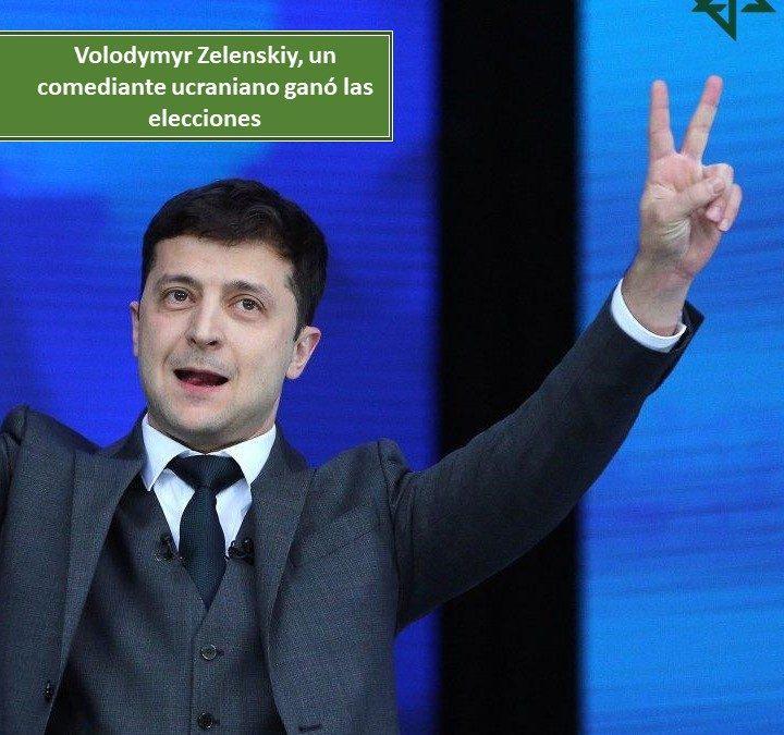 Comediante ucraniano ganó las elecciones de dicho país