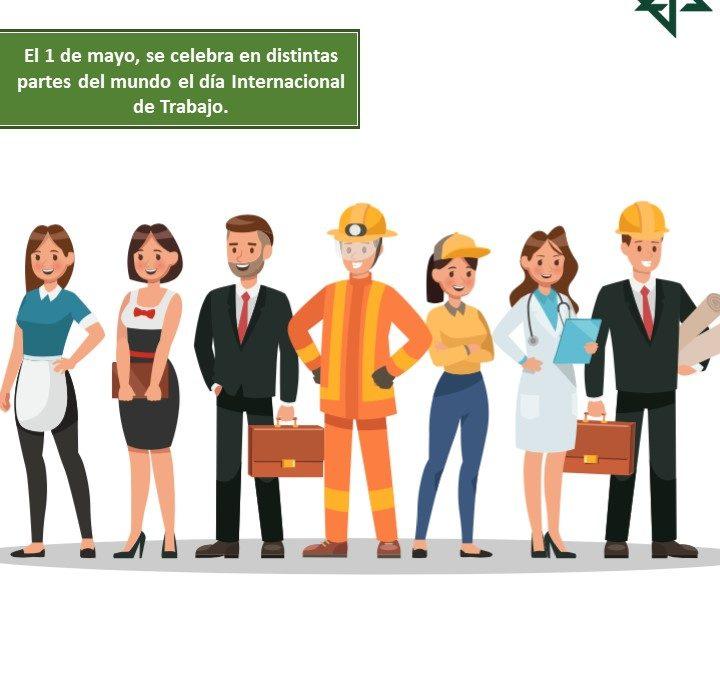 El 1 de mayo, se celebra en distintas partes del mundo el día Internacional de Trabajo.