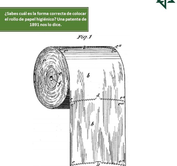 ¿Sabes cuál es la forma correcta de colocar el rollo de papel higiénico? Una patente de 1891 nos lo dice.