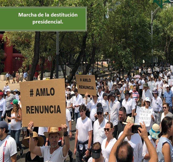 MARCHA DE LA DESTITUCIÓN PRESIDENCIAL.