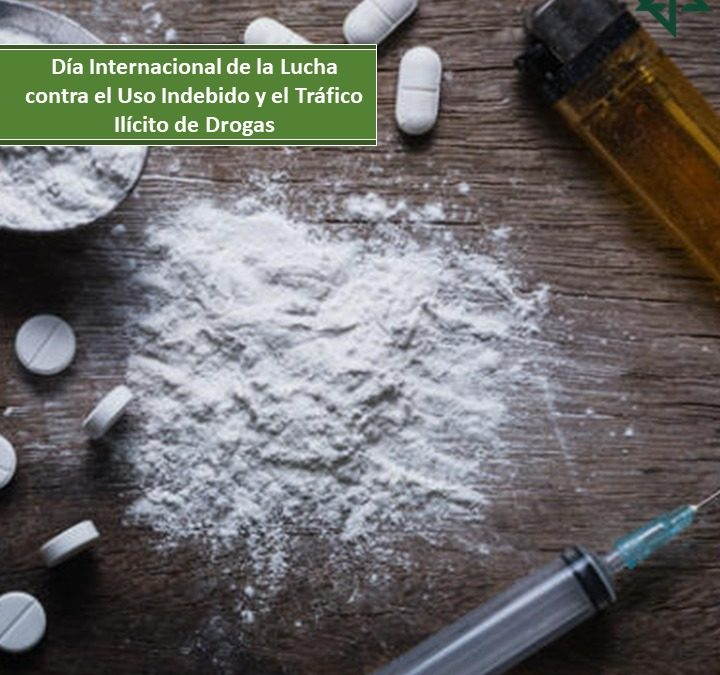 Día Internacional de la Lucha contra el Uso Indebido y el Tráfico Ilícito de Drogas.