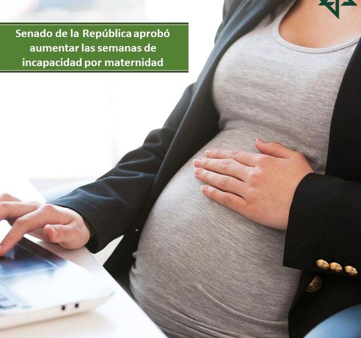 Senado de la República aprobó aumentar las semanas de incapacidad por maternidad.